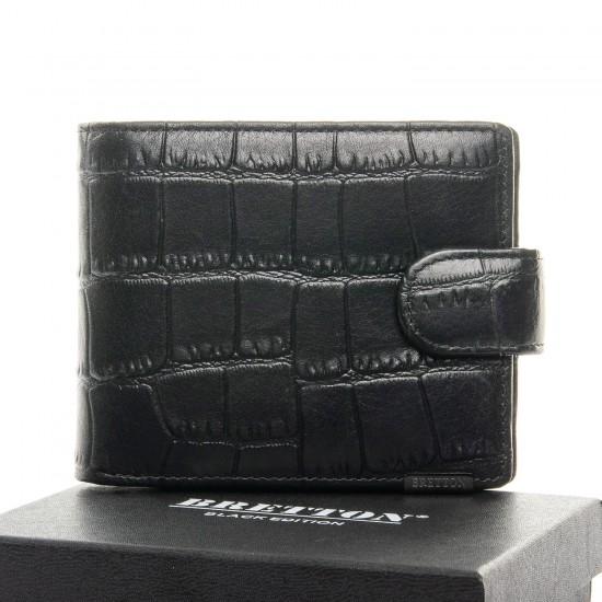 Мужской кожаный портмоне BRETTON 208-Y107 черный