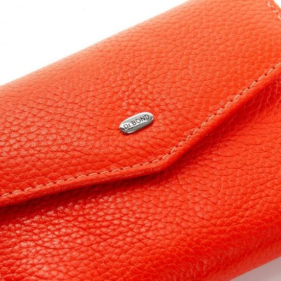 Жіночий шкіряний гаманець dr.Bond Classic WS-3 помаранчевий