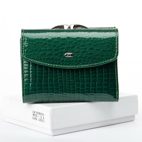 Женский кожаный кошелек SERGIO TORRETTI WS-11 зеленый