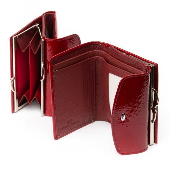 Женский кожаный кошелек SERGIO TORRETTI WS-11 красный