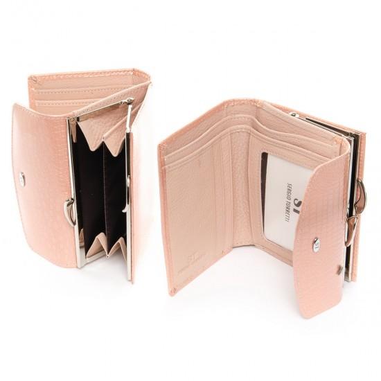 Жіночий шкіряний гаманець SERGIO TORRETTI WS-11 пудра
