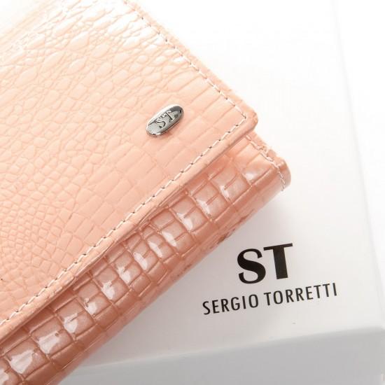 Женский кожаный кошелек SERGIO TORRETTI WS-10 черный