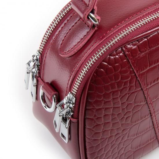 Жіноча сумка з натуральної шкіри ALEX RAI 2233 бордовий