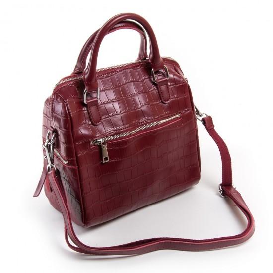 Жіноча сумка з натуральної шкіри ALEX RAI 2234 бордовий