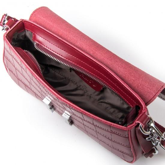 Жіноча сумка з натуральної шкіри ALEX RAI 1898 бордовий