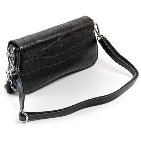 Жіноча сумка з натуральної шкіри ALEX RAI 1898 чорний