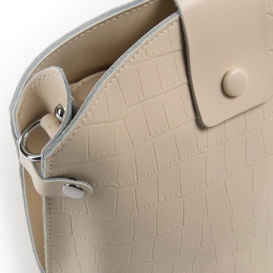Женская сумочка из натуральной кожи ALEX RAI 2237 бежевый