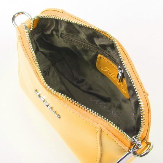 Жіноча сумочка-клатч з натуральної шкіри ALEX RAI 8106 жовтий