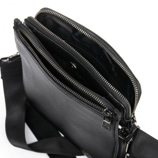 Чоловіча сумка-планшет з натуральної шкіри BRETTON BP 3596-4 чорний