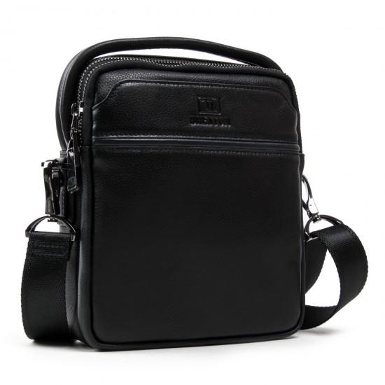 Мужская сумка-планшет из натуральной кожи BRETTON BE 407-41 черный