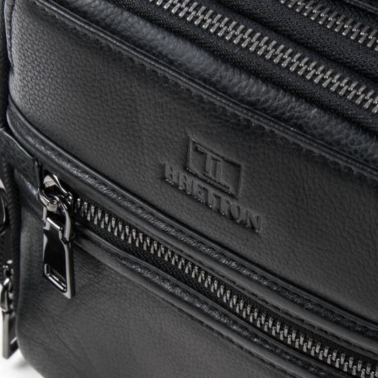 Мужская сумка-планшет из натуральной кожи BRETTON BE 407-42 черный