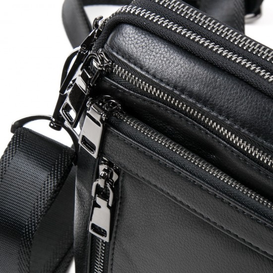 Мужская сумка-планшет из натуральной кожи BRETTON BE N2039-6 черный
