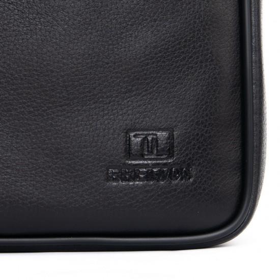 Чоловіча сумка-планшет з натуральної шкіри BRETTON BE 2016-4 чорний