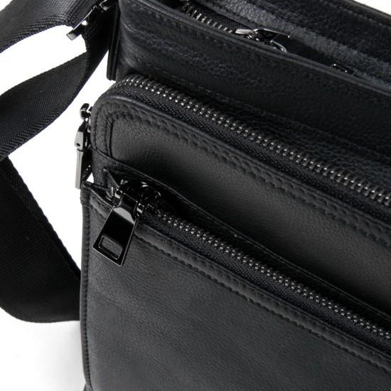 Чоловіча сумка-планшет з натуральної шкіри BRETTON BE 5446-4 чорний