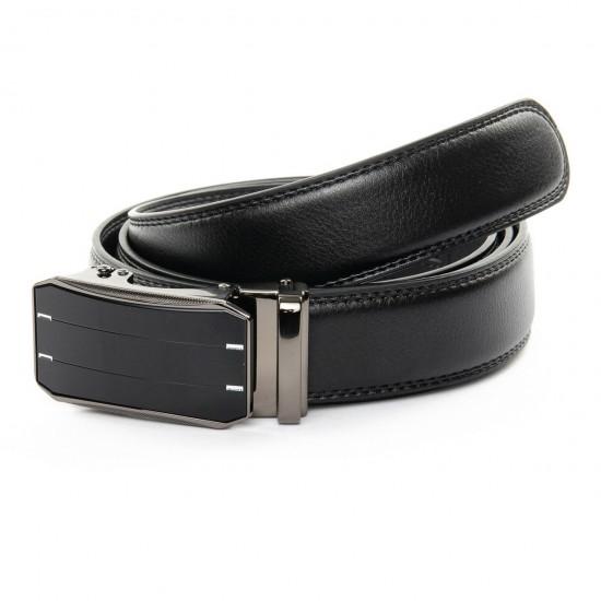 Мужской кожаный ремень D36-8310-1 черный