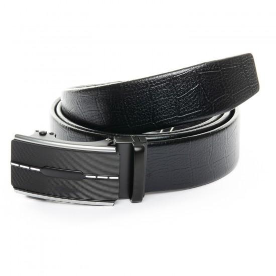 Мужской кожаный ремень C40-1761 черный