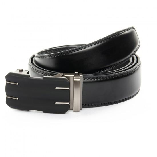 Мужской кожаный ремень C40-1538-2 черный