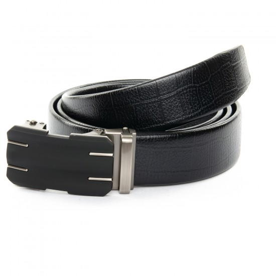 Мужской кожаный ремень C40-1538 черный