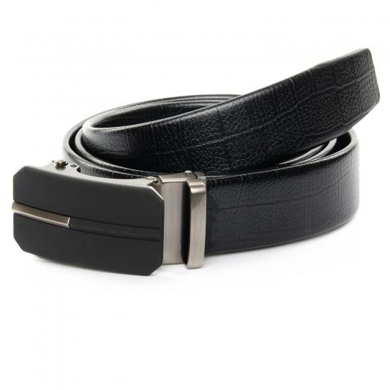 Мужской кожаный ремень C40-1526 черный