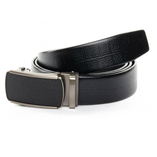 Мужской кожаный ремень C40-1050-1 черный