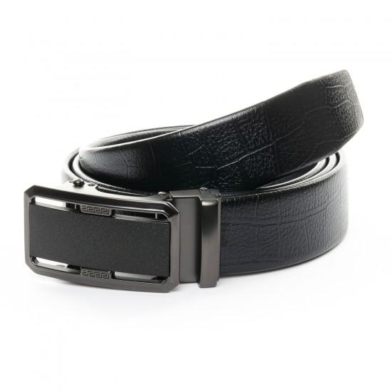 Мужской кожаный ремень 6028 черный