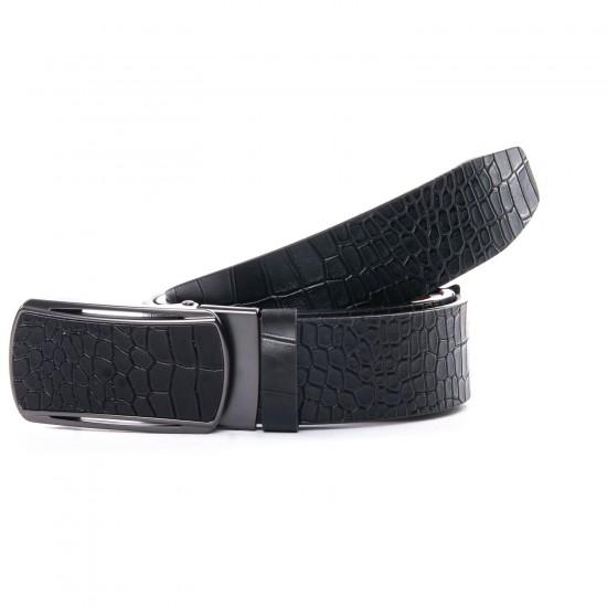 Мужской кожаный ремень D36-7373 черный