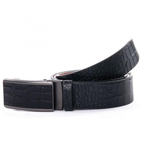 Мужской кожаный ремень D36-7172 черный