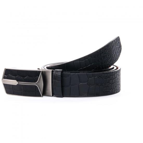 Мужской кожаный ремень D36-5941 черный