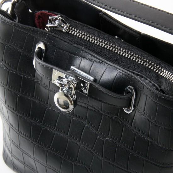 Женская сумочка на три отделения FASHION 985 черный