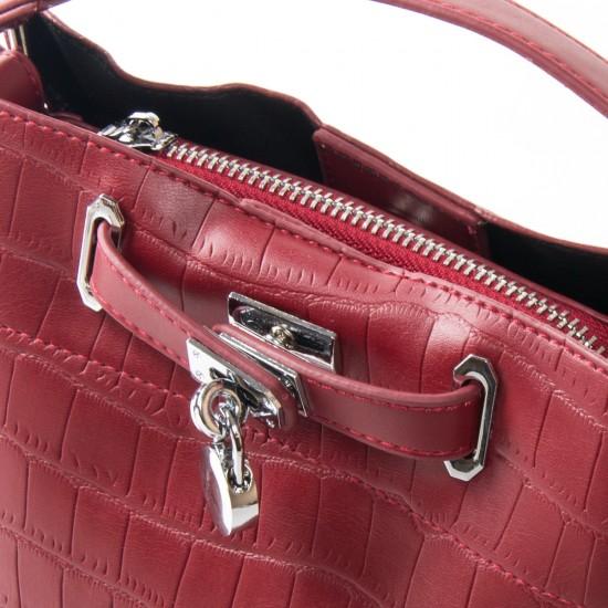 Женская сумочка на три отделения FASHION 985 бордовый