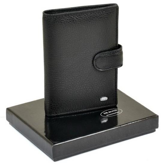 Чоловічий шкіряний гаманець dr.Bond MP-1 чорний