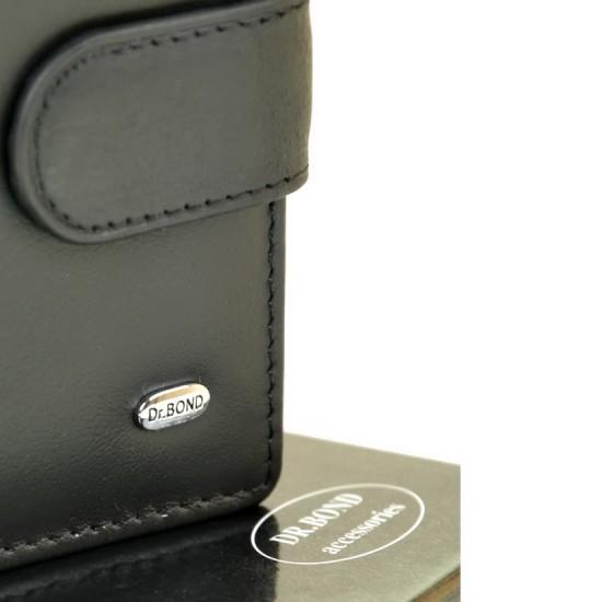 Мужской кожаный кошелек-визитница dr.Bond M21 черный