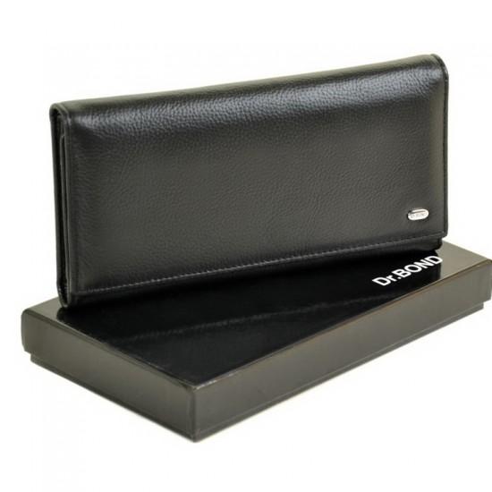 Мужской кожаный портмоне dr.Bond M66 черный