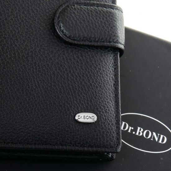 Чоловічий шкіряний портмоне-правник dr.Bond M5 чорний