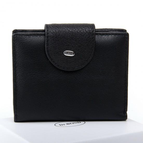 Женский кожаный кошелек dr.Bond Classic WN-6 черный