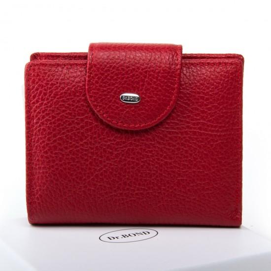 Жіночий шкіряний гаманець dr.Bond Classic WN-6 червоний