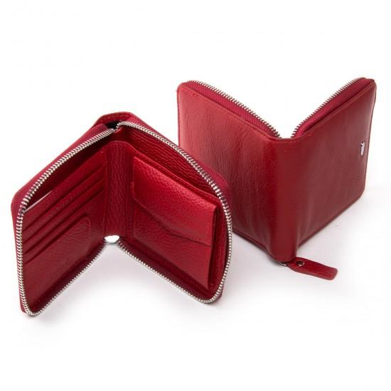 Жіночий шкіряний гаманець dr.Bond Classic WN-5 червоний