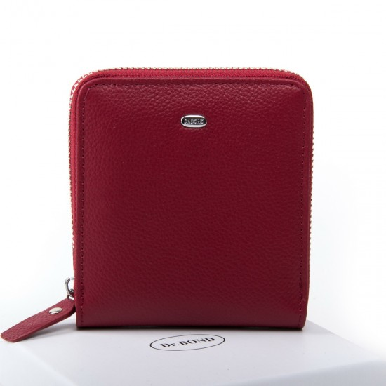Жіночий шкіряний гаманець dr.Bond Classic WN-5 бордовий