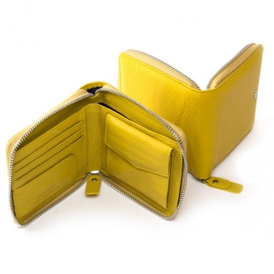 Жіночий шкіряний гаманець dr.Bond Classic WN-5 жовтий