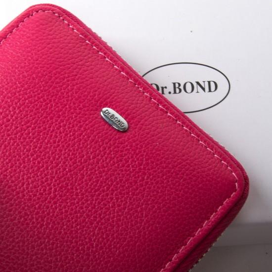 Жіночий шкіряний гаманець dr.Bond Classic WN-5 фуксія