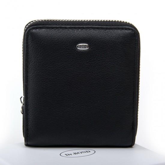 Жіночий шкіряний гаманець dr.Bond Classic WN-5 чорний