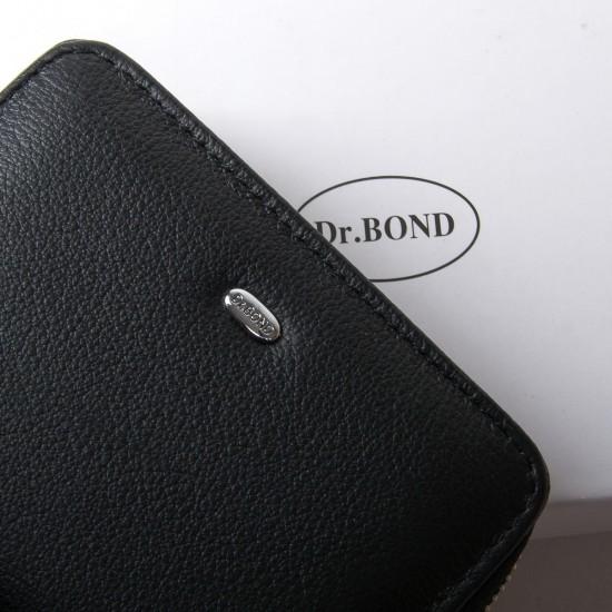 Жіночий шкіряний гаманець dr.Bond Classic WN-4 чорний