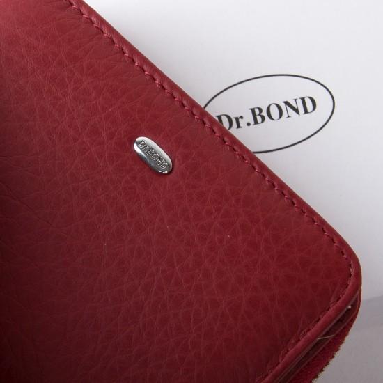 Женский кожаный кошелек dr.Bond Classic  WN-4 бордовый