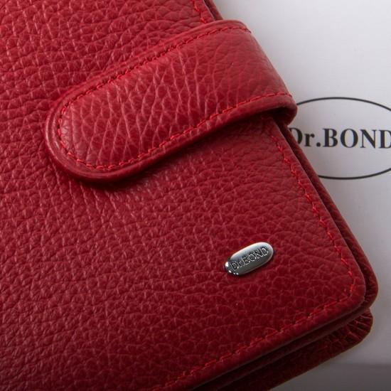 Жіночий шкіряний гаманець dr.Bond Classic WN-3 червоний