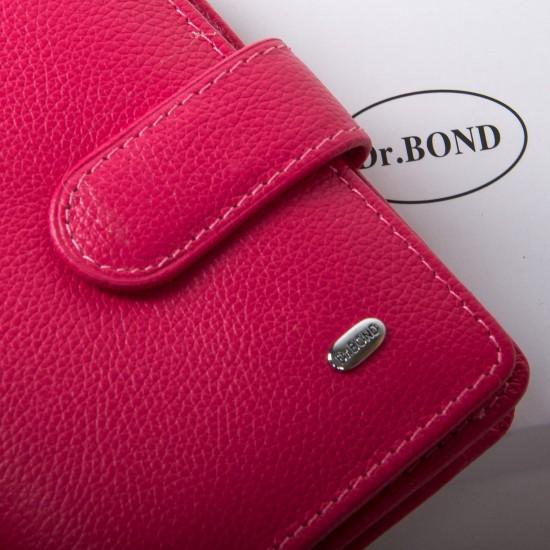 Жіночий шкіряний гаманець dr.Bond Classic WN-3 фуксія