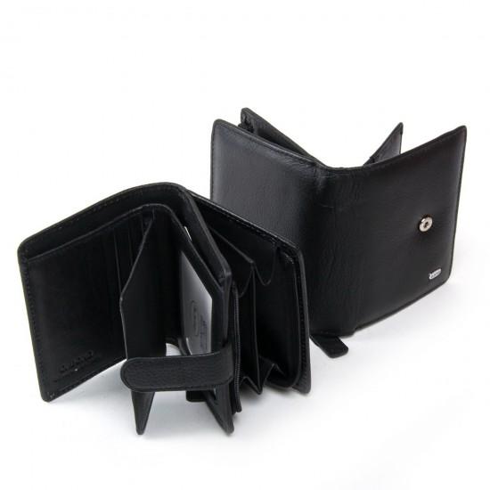 Жіночий шкіряний гаманець dr.Bond Classic WN-3 чорний