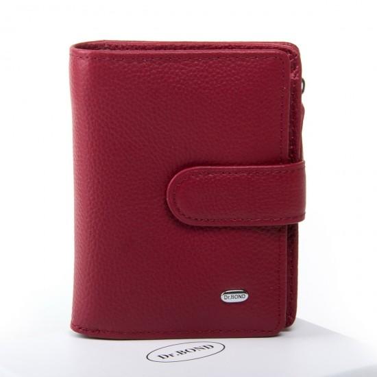 Жіночий шкіряний гаманець dr.Bond Classic WN-2 бордовий