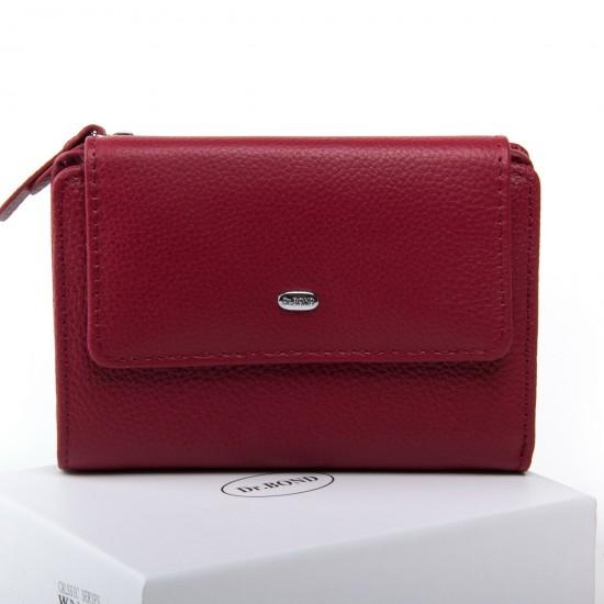 Женский кожаный кошелек dr.Bond Classic  WN-1 бордовый