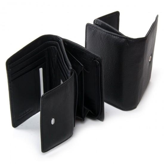 Женский кожаный кошелек dr.Bond Classic  WN-1 черный