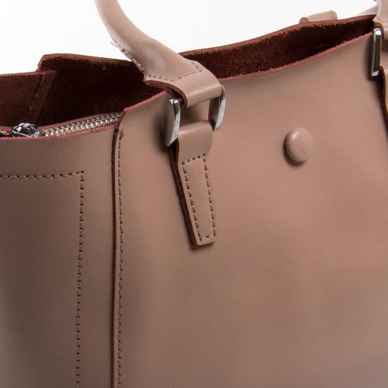 Женская сумка из натуральной кожи ALEX RAI 2107 пудра